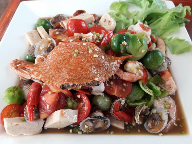 Σαλάτα θαλασσινών στοκ εικόνα με δικαίωμα ελεύθερης χρήσης