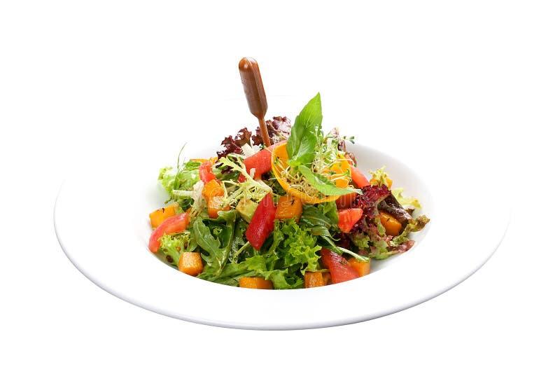 Σαλάτα και αβοκάντο κολοκύθας στοκ εικόνα
