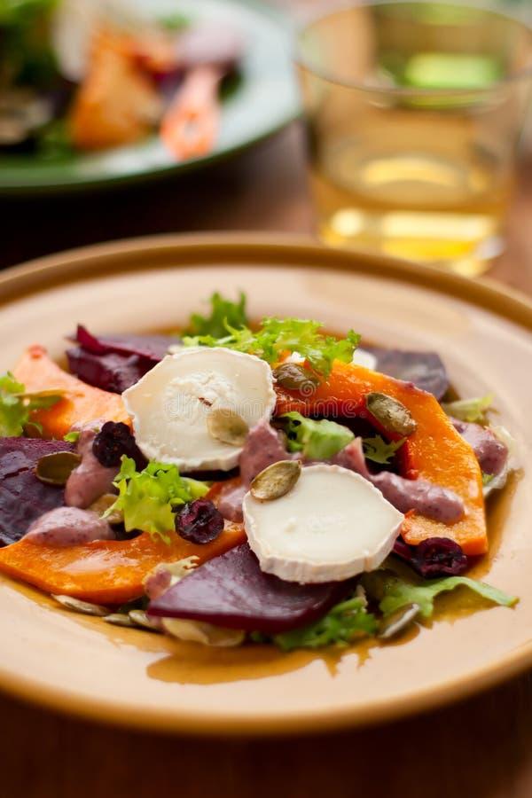 σαλάτα κολοκύθας παντζ&alp στοκ φωτογραφίες