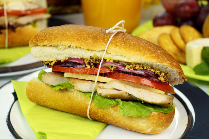 σαλάτα ρόλων κοτόπουλο&upsilo στοκ φωτογραφίες με δικαίωμα ελεύθερης χρήσης