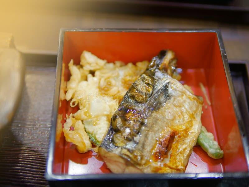 Σαλάτα στο εστιατόριο τροφίμων της Ιαπωνίας στοκ φωτογραφία με δικαίωμα ελεύθερης χρήσης