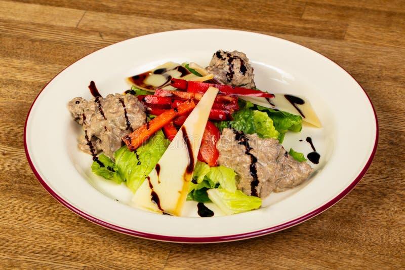 σαλάτα συκωτιού κοτόπο&upsilo στοκ εικόνα με δικαίωμα ελεύθερης χρήσης