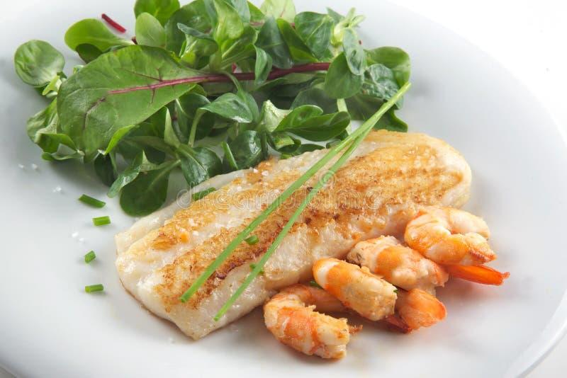 σαλάτα ψαριών λωρίδων στοκ φωτογραφίες