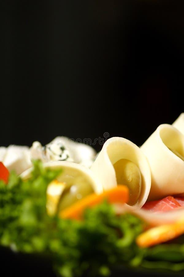 Download σαλάτα Prosciutto ζαμπόν τυριών Στοκ Εικόνες - εικόνα από εύγευστος, τυρί: 1527104
