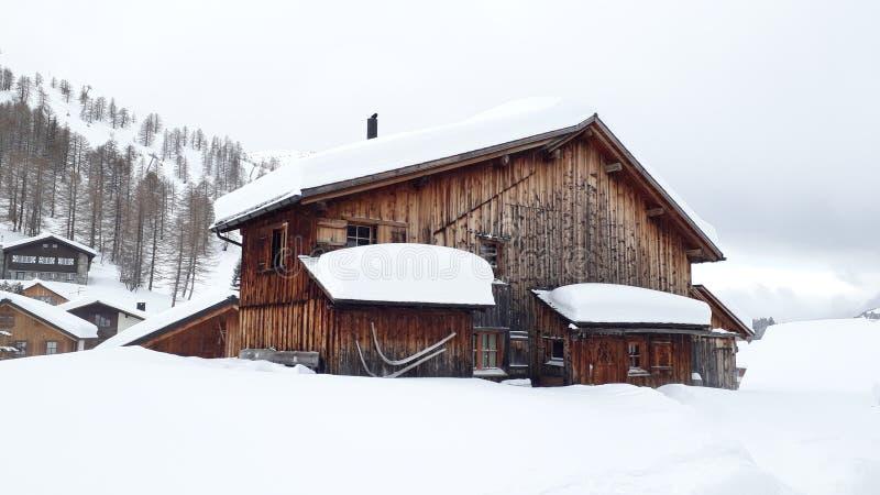 Σαλέ Malbun σκι στοκ εικόνες