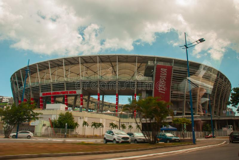ΣΑΛΒΑΔΟΡ, ΒΡΑΖΙΛΙΑ: Nova Fonte, στάδιο σε Bahia στοκ φωτογραφίες