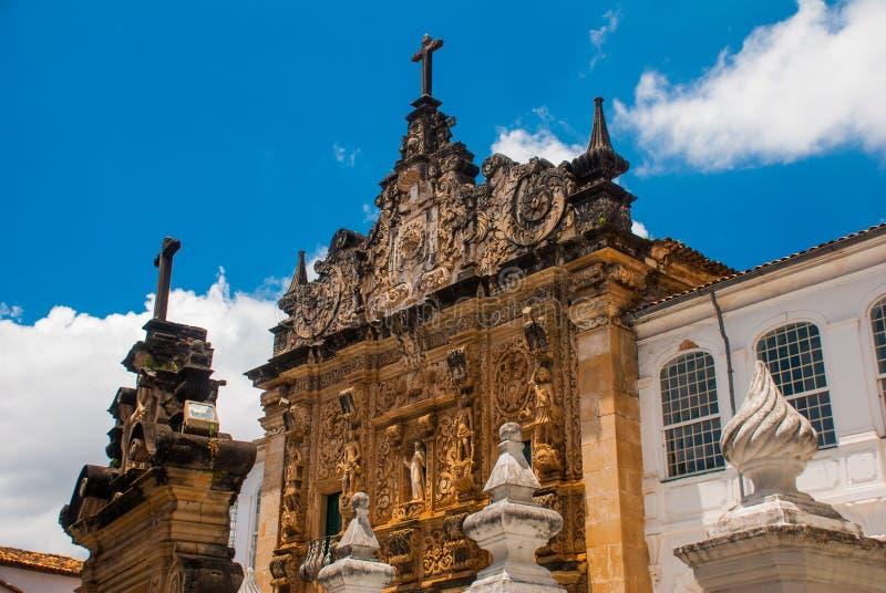 Σαλβαδόρ, Bahia, Βραζιλία: Εκκλησία της διαταγής Terceira de s ο Francisco στο κέντρο πόλεων Σαλβαδόρ DA Bahia στοκ φωτογραφία