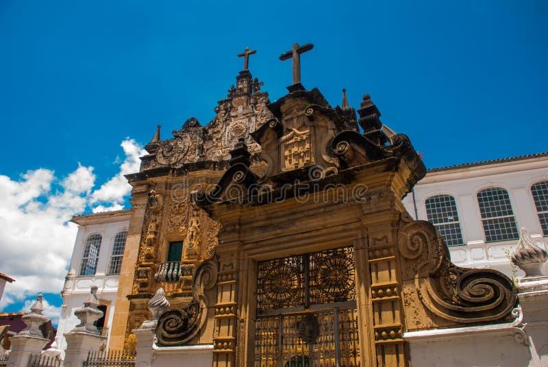 Σαλβαδόρ, Bahia, Βραζιλία: Εκκλησία της διαταγής Terceira de s ο Francisco στο κέντρο πόλεων Σαλβαδόρ DA Bahia στοκ εικόνα με δικαίωμα ελεύθερης χρήσης