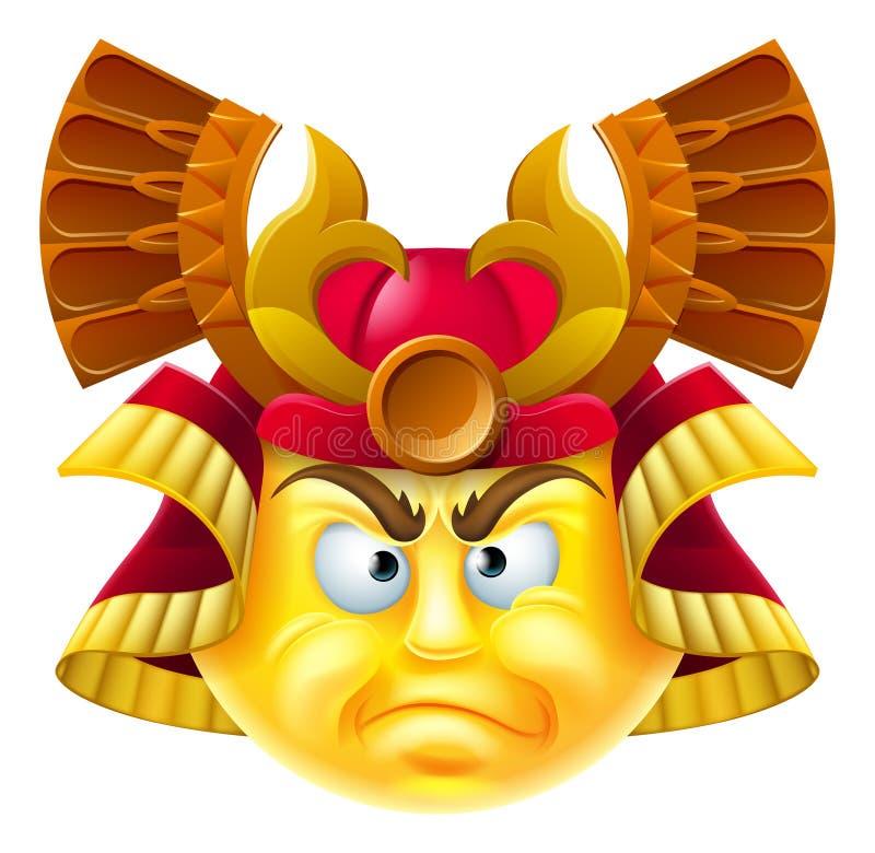 Σαμουράι Emoji Emoticon διανυσματική απεικόνιση