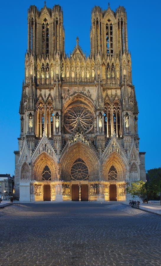 σαμπάνια Γαλλία Reims καθεδρικών ναών στοκ εικόνες με δικαίωμα ελεύθερης χρήσης
