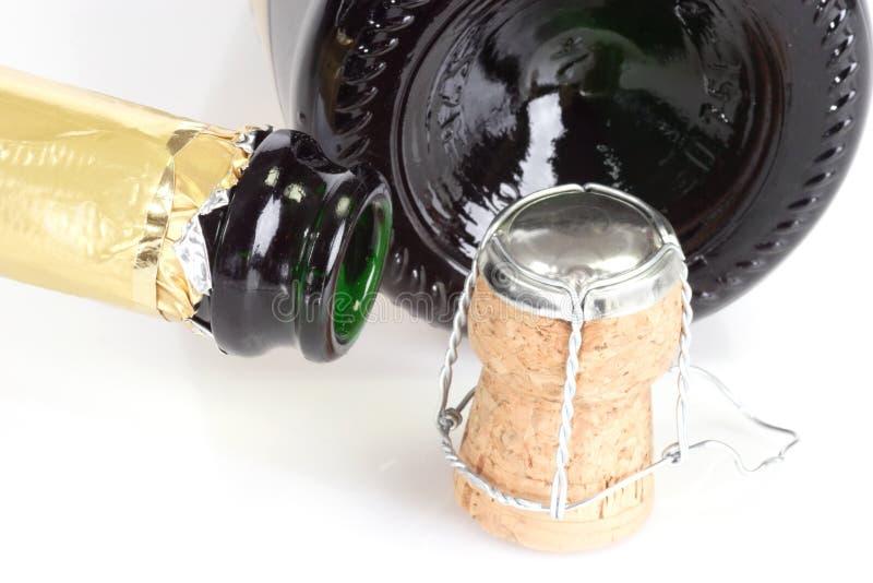σαμπάνια μπουκαλιών κενή στοκ εικόνες