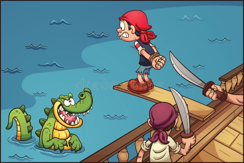Σανίδα πειρατών διανυσματική απεικόνιση