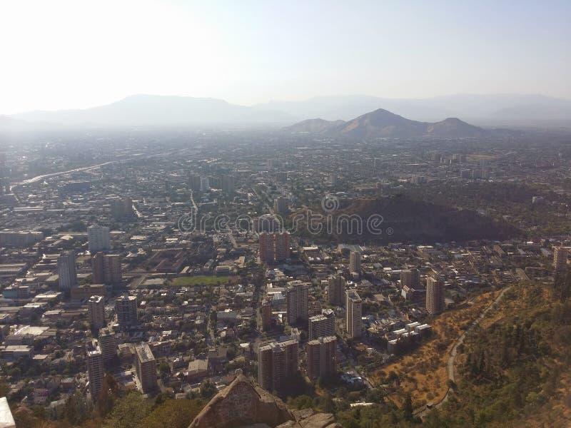 Σαντιάγο από το βουνό στοκ εικόνες