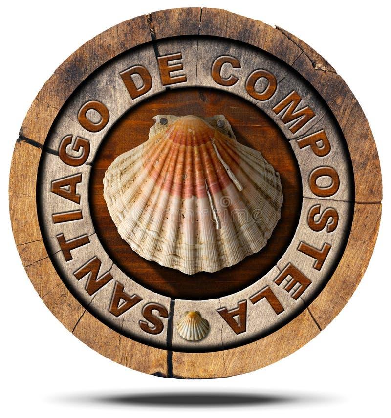 Σαντιάγο de Compostela - σύμβολο προσκυνήματος διανυσματική απεικόνιση