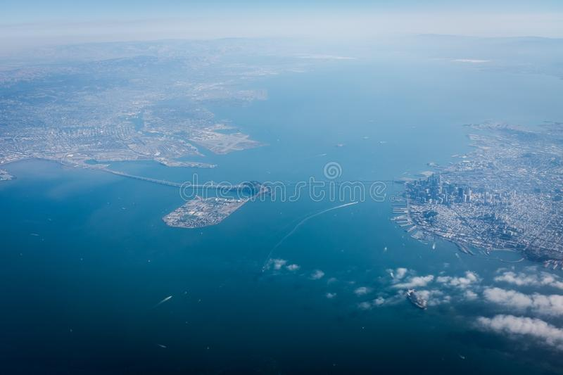 Σαν Φρανσίσκο από τον ουρανό στοκ εικόνες