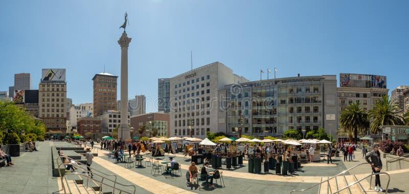 Σαν Φρανσίσκο, Καλιφόρνια, ΗΠΑ: Τετραγωνική αγορά ένωσης, κεντρικός στοκ εικόνες