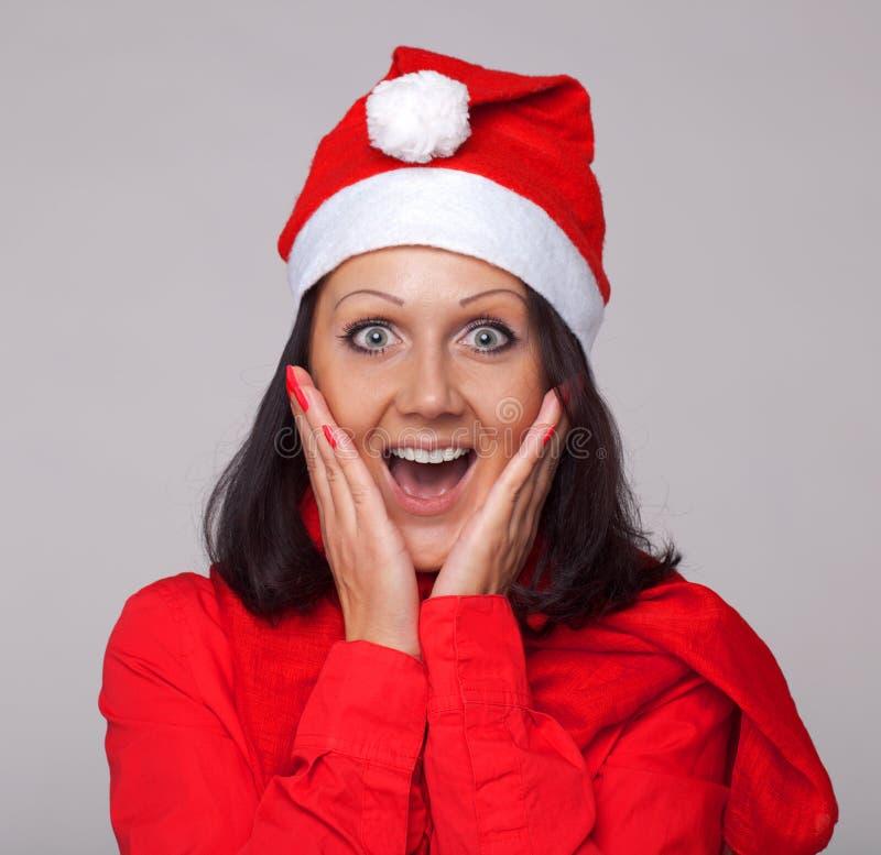σαν όμορφο ντυμένο Claus santa κορι& στοκ φωτογραφία με δικαίωμα ελεύθερης χρήσης