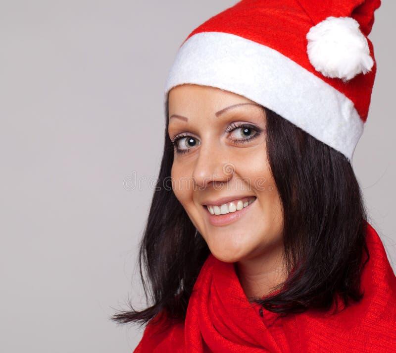σαν όμορφο ντυμένο Claus santa κορι& στοκ εικόνα