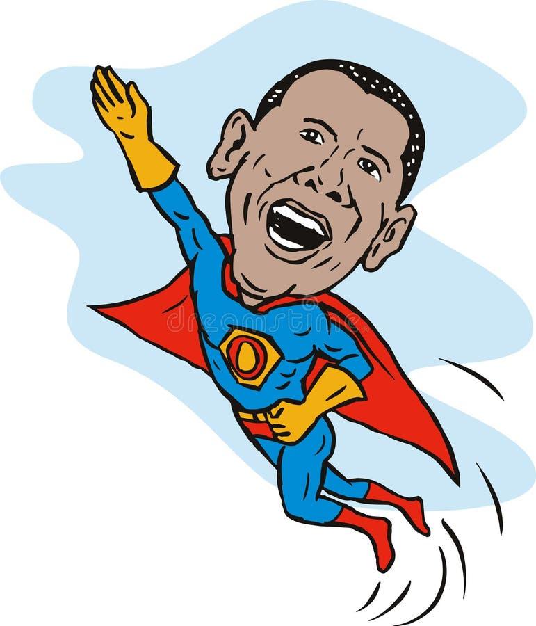 σαν superhero obama διανυσματική απεικόνιση