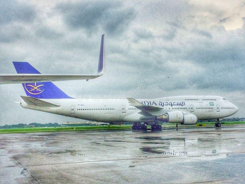 Σαουδική Αραβία B747-400 στοκ φωτογραφία με δικαίωμα ελεύθερης χρήσης
