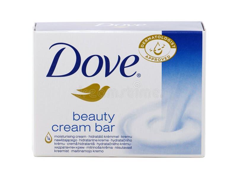 Σαπούνι φραγμών κρέμας ομορφιάς περιστεριών στοκ εικόνα με δικαίωμα ελεύθερης χρήσης