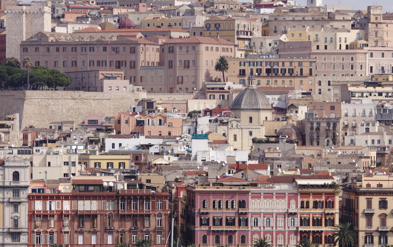 Σαρδηνία, Κάλιαρι, Ιταλία στοκ φωτογραφίες με δικαίωμα ελεύθερης χρήσης