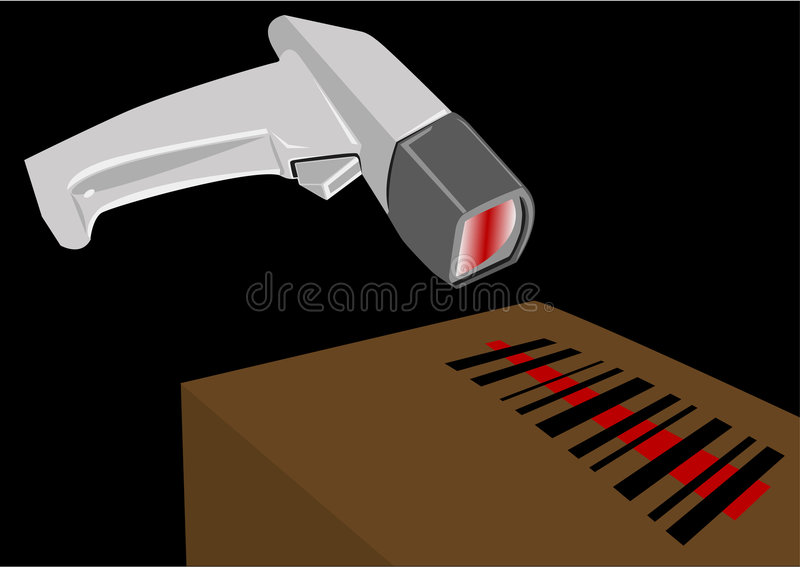 σαρωτής κώδικα ράβδων ελεύθερη απεικόνιση δικαιώματος