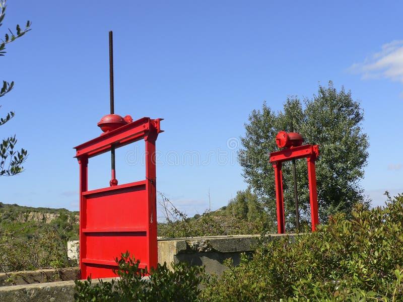 Σαρδηνία Κόκκινα διαφράγματα στοκ φωτογραφία με δικαίωμα ελεύθερης χρήσης