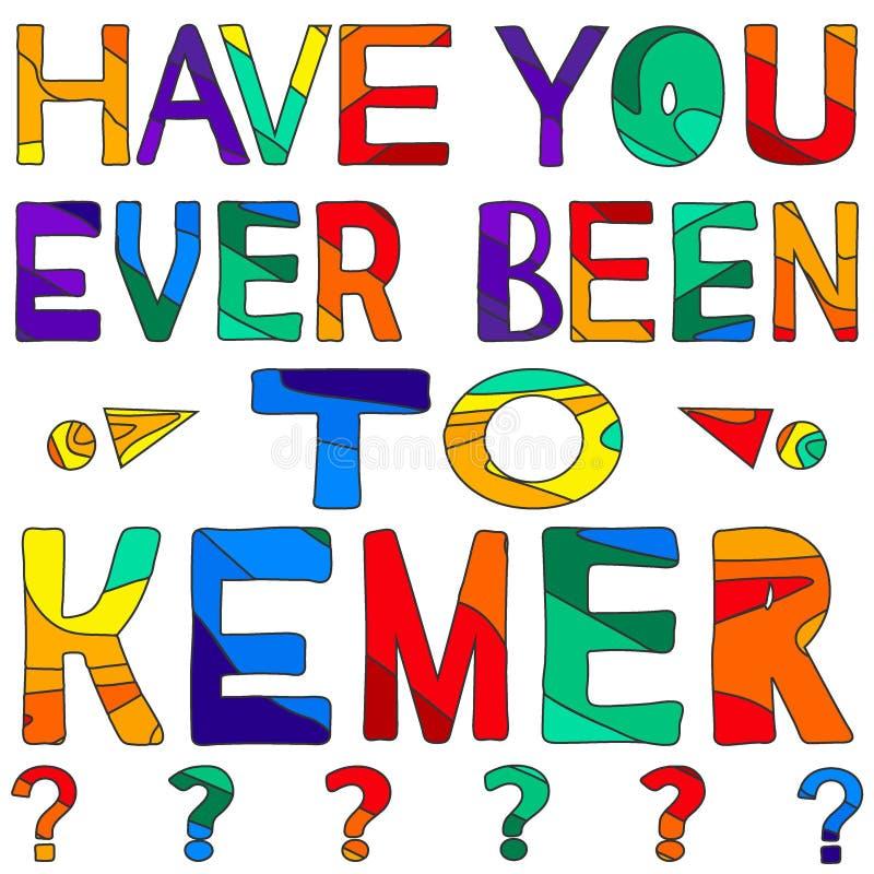 Σας έχει όντας πάντα σε Kemer - η сolorful φωτεινή επιγραφή απεικόνιση αποθεμάτων