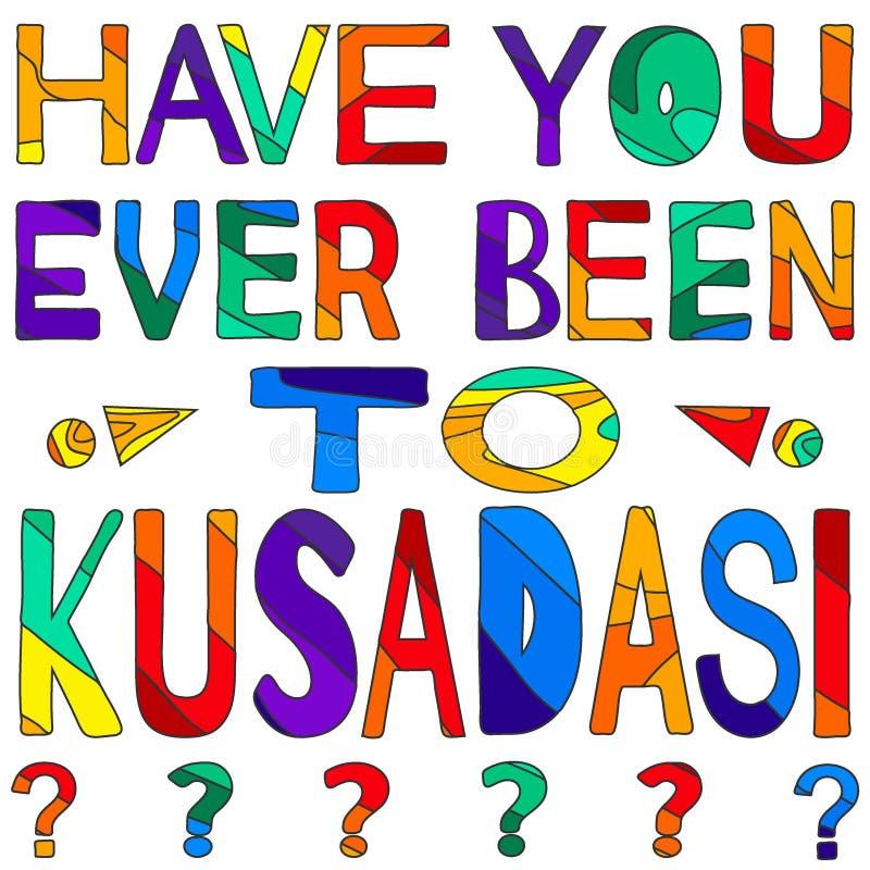 Σας έχει όντας πάντα σε Kusadasi - η сolorful φωτεινή επιγραφή απεικόνιση αποθεμάτων