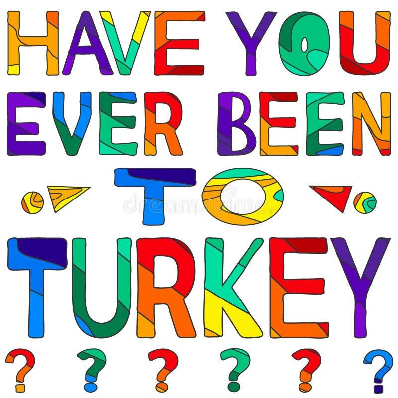 Σας έχει όντας πάντα στην Τουρκία - η сolorful φωτεινή επιγραφή ελεύθερη απεικόνιση δικαιώματος