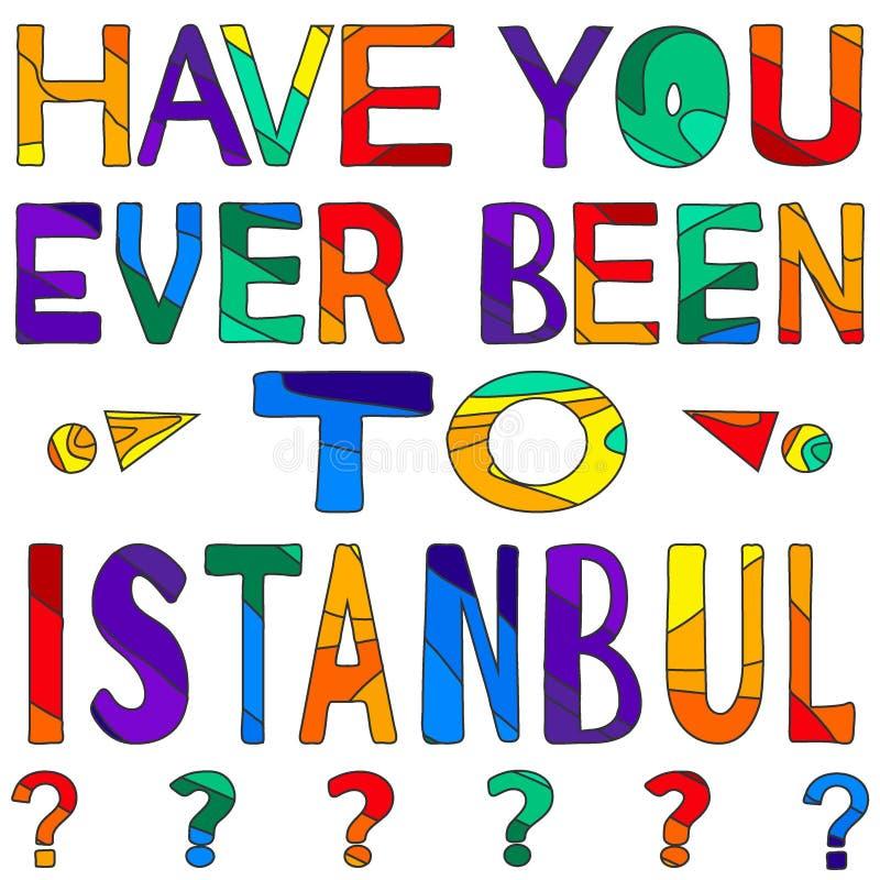Σας έχει όντας πάντα στη Ιστανμπούλ - η сolorful φωτεινή επιγραφή απεικόνιση αποθεμάτων