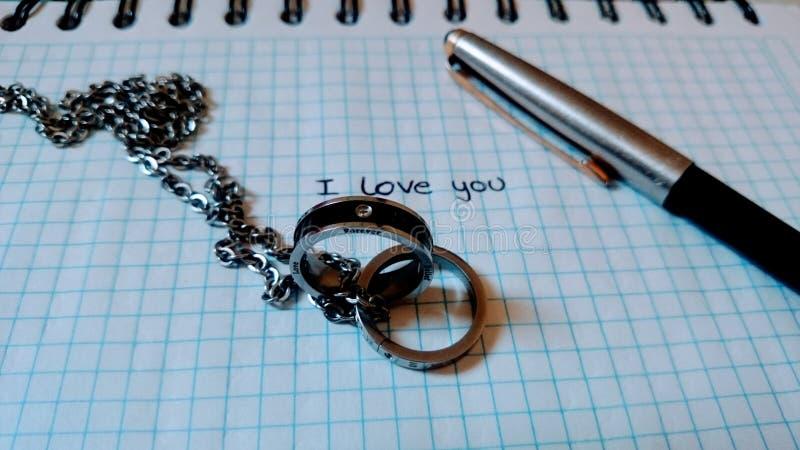 σας αγαπώ στοκ φωτογραφία