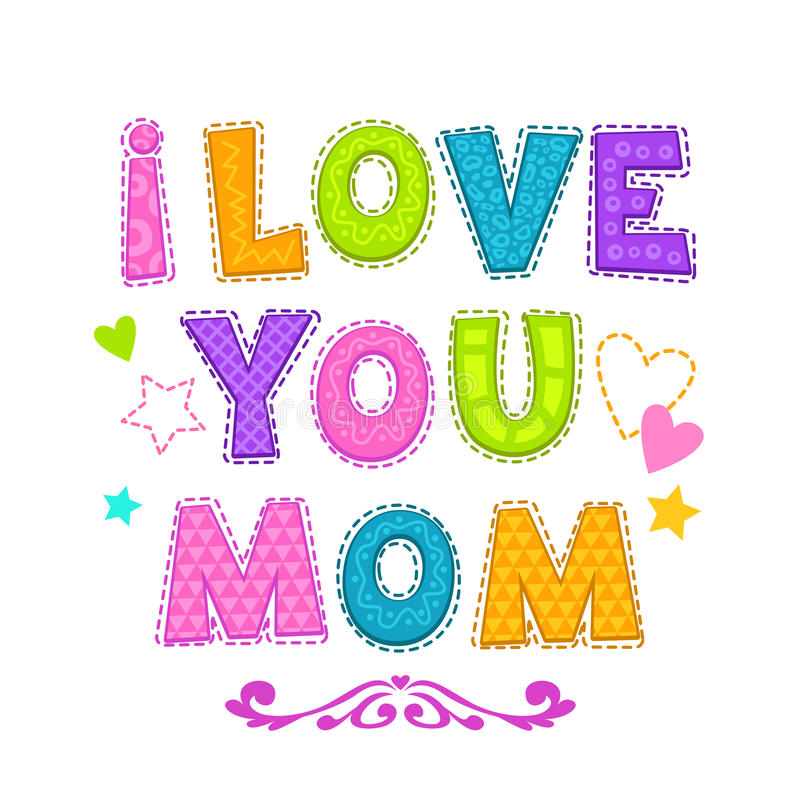 σας αγαπώ mom διανυσματική απεικόνιση