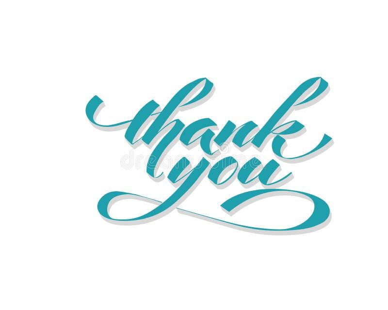 Σας ευχαριστούμε - δώστε την επιγραφή εγγραφής στο σχέδιο διακοπών, γραπτή καλλιγραφία μελανιού απεικόνιση αποθεμάτων
