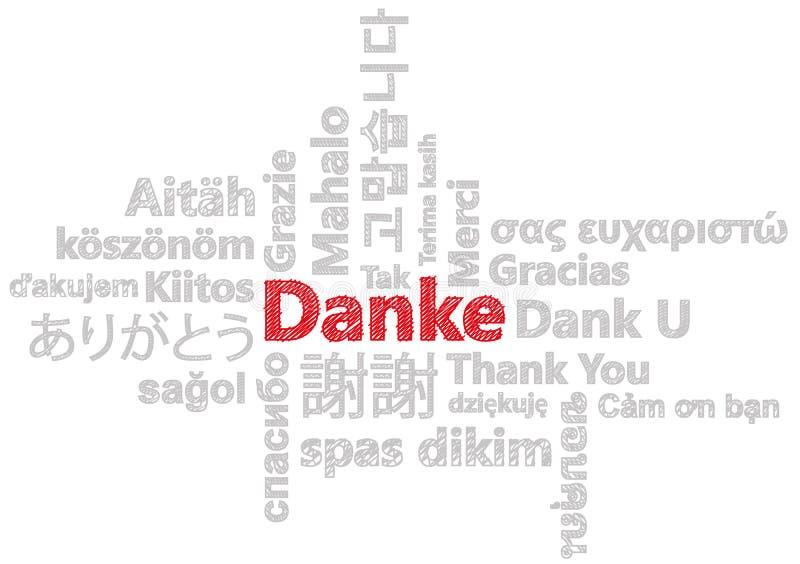 Σας ευχαριστούμε στο διαφορετικό γλωσσικό διάνυσμα που απομονώνεται διανυσματική απεικόνιση
