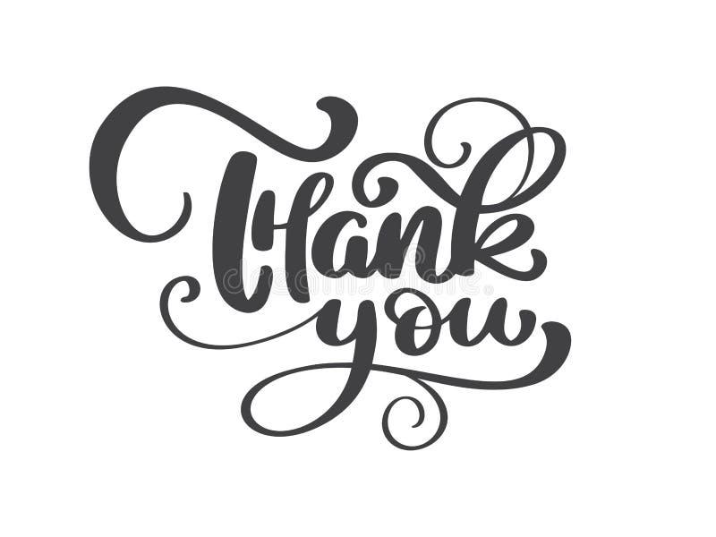 Σας ευχαριστούμε χειρόγραφη επιγραφή Συρμένη χέρι εγγραφή Καλλιγραφία ευχαριστιών οι καρποί σύνθεσης καρτών κεριών τόξων ανασκόπη διανυσματική απεικόνιση