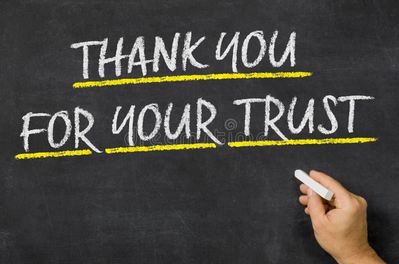 Σας ευχαριστώ για την εμπιστοσύνη σας στοκ φωτογραφίες