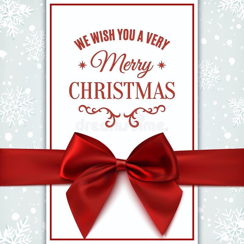 Σας ευχόμαστε τη ευχετήρια κάρτα Χαρούμενα Χριστούγεννας απεικόνιση αποθεμάτων