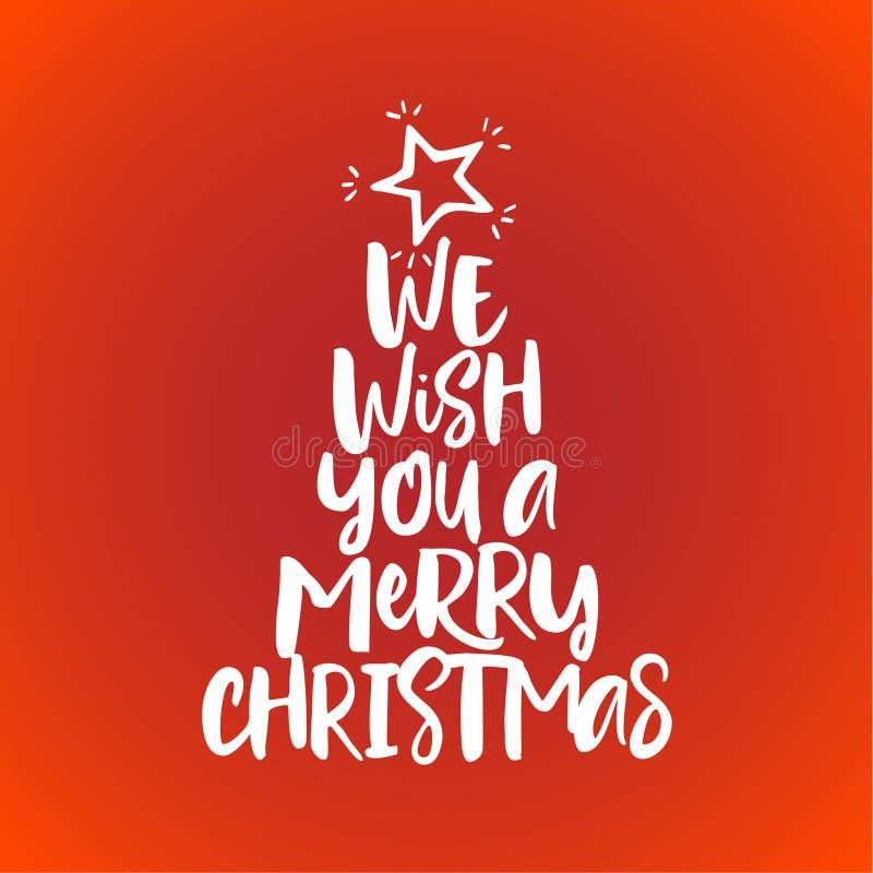 Σας ευχόμαστε τη Χαρούμενα Χριστούγεννα ελεύθερη απεικόνιση δικαιώματος