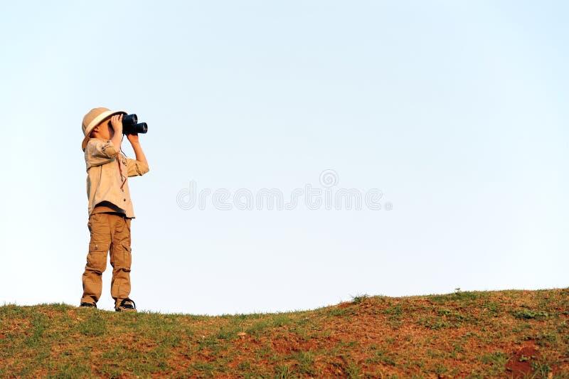 σαφάρι αγοριών στοκ εικόνα με δικαίωμα ελεύθερης χρήσης