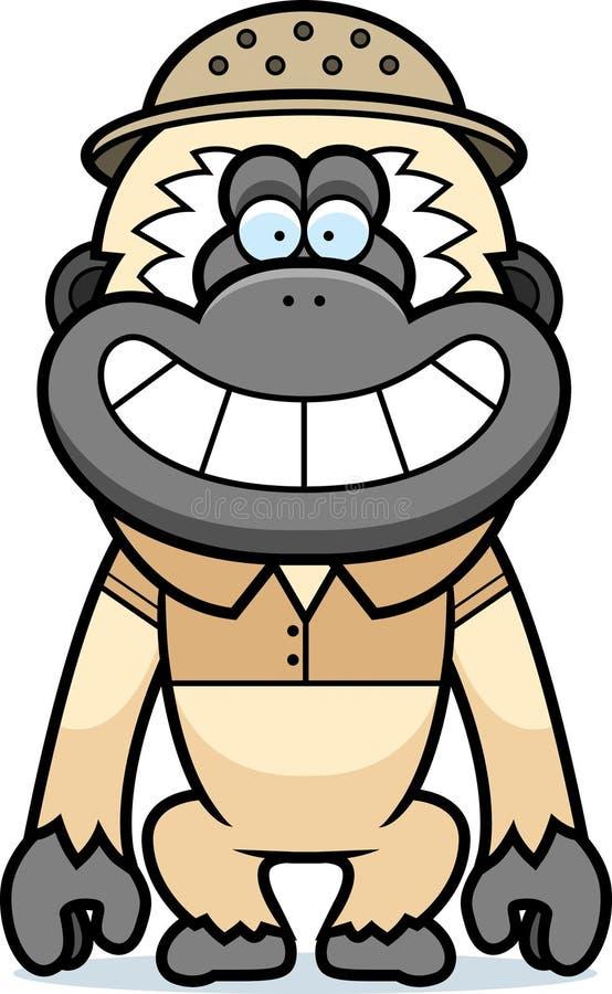 Σαφάρι Gibbon κινούμενων σχεδίων απεικόνιση αποθεμάτων