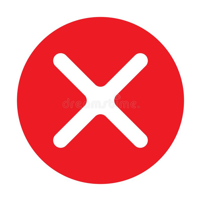 Σαφές εικονίδιο που παρουσιάζει ναι ή όχι χρώμα απεικόνιση αποθεμάτων