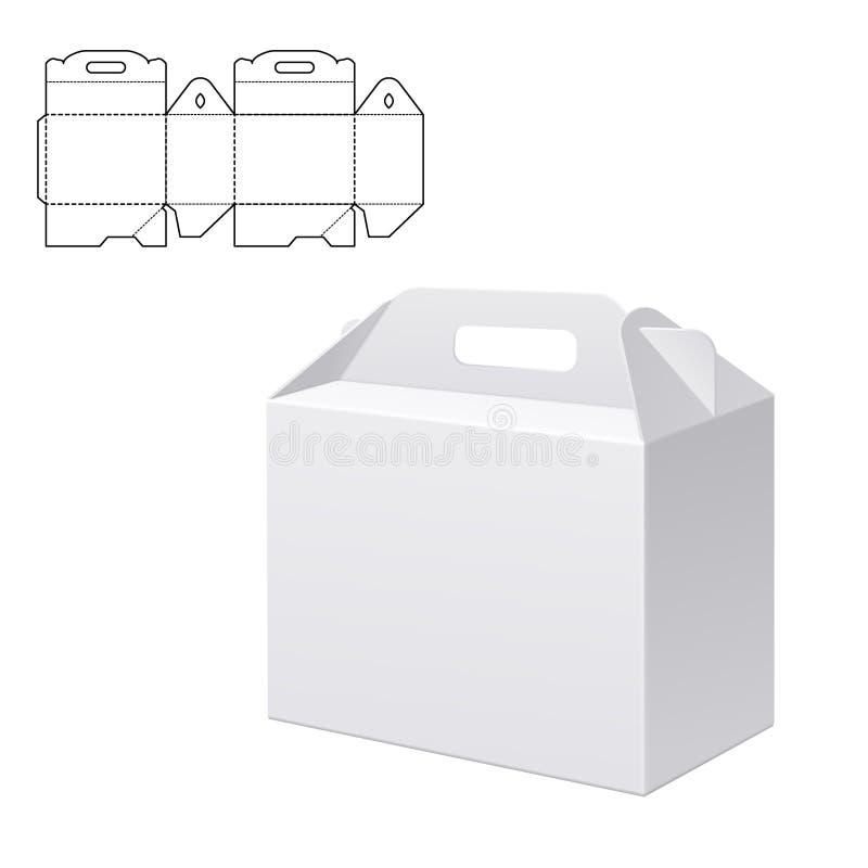 Σαφές κιβώτιο χαρτοκιβωτίων δώρων ελεύθερη απεικόνιση δικαιώματος