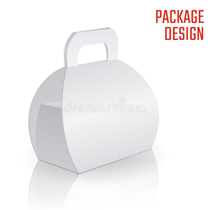 Σαφές κιβώτιο χαρτοκιβωτίων δώρων απεικόνιση αποθεμάτων