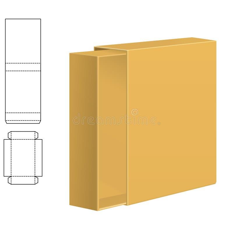 Σαφές κιβώτιο χαρτοκιβωτίων ελεύθερη απεικόνιση δικαιώματος