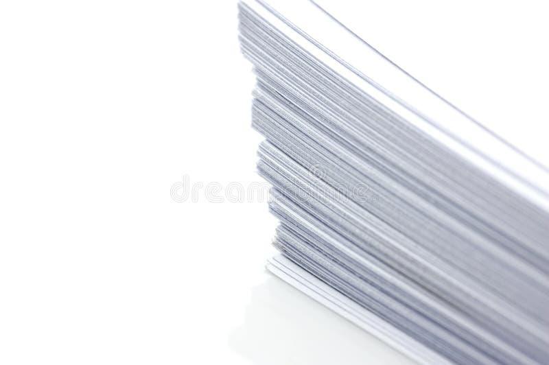 σαφές λευκό στοιβών εγγ&rho στοκ φωτογραφία με δικαίωμα ελεύθερης χρήσης