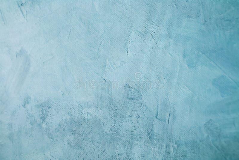 Σαφές μπλε λεκιασμένο υπόβαθρο σχεδίων ζωγραφικής καμβά στοκ φωτογραφία με δικαίωμα ελεύθερης χρήσης