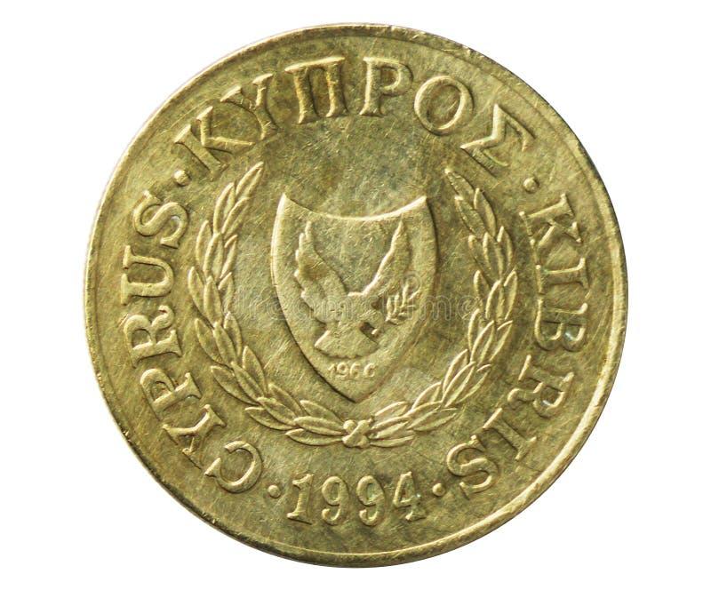 Σαφές περιστέρι 20 σεντ στο νόμισμα ασπίδων, 1960~2007 - λιρέτα Δημοκρατίας/κυκλοφορία λιβρών serie, τράπεζα της Κύπρου στοκ εικόνα με δικαίωμα ελεύθερης χρήσης