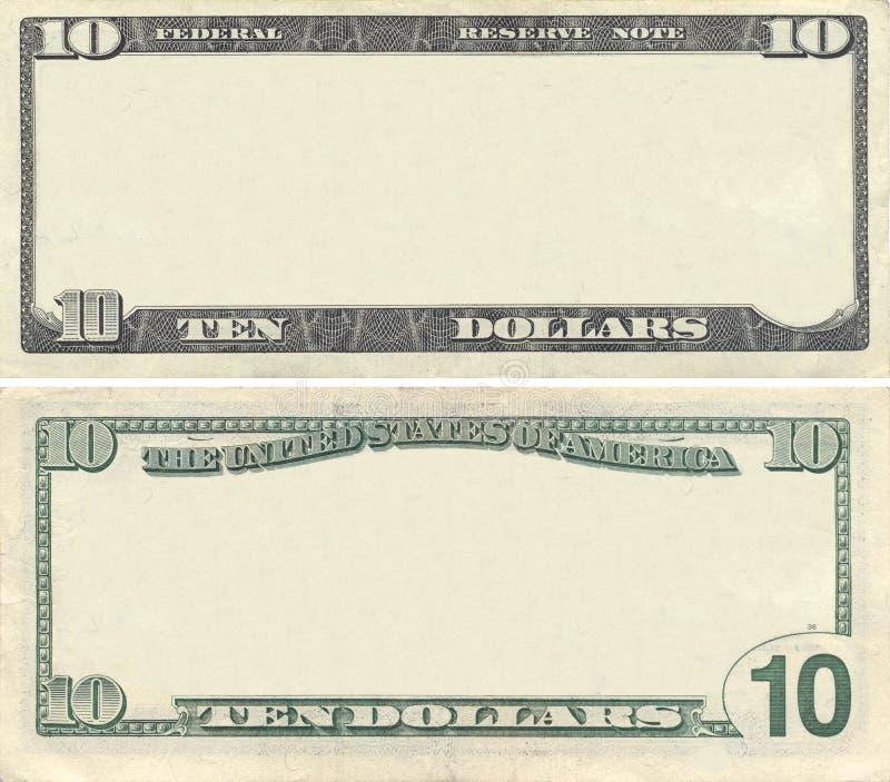 σαφές πρότυπο δολαρίων 10 τρ& στοκ φωτογραφίες